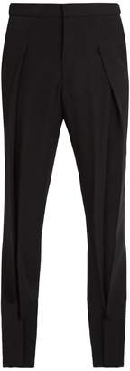Stella McCartney Dune pleated wool-blend trousers