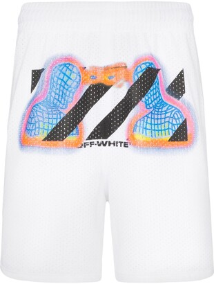 Off-White thermal print mesh shorts