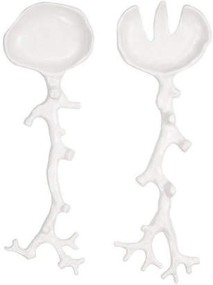 MADHOUSE by Michael Aram Asst. of 2 Coral Melamine Salad Servers - White