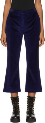 Altuzarra Navy Velvet Nettle Trousers