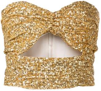 ATTICO sequinned cut-out top
