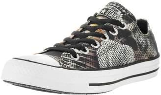 Converse Unisex Chuck Taylor All Star Digital Floral Ox Black/White/White Basketball Shoe 8.5 Women US