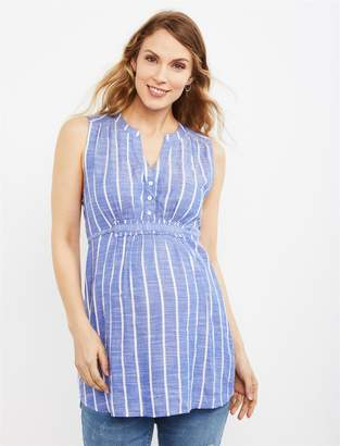 A Pea in the Pod Striped Tie Back Maternity Shirt