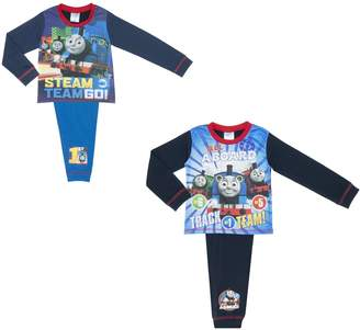 Thomas & Friends Cartoon Character Products 2 Pack Boys Thomas Pyjamas 4 Piece Size - 4-5 years/110 cm