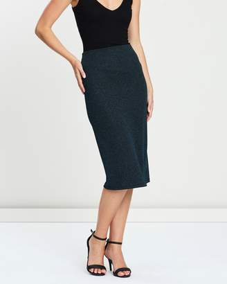 Dorothy Perkins Lurex Pencil Skirt