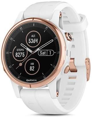 Garmin Fenix 5S Plus Multi-Sport White GPS Watch, 42mm