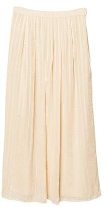 MANGO Satin long skirt