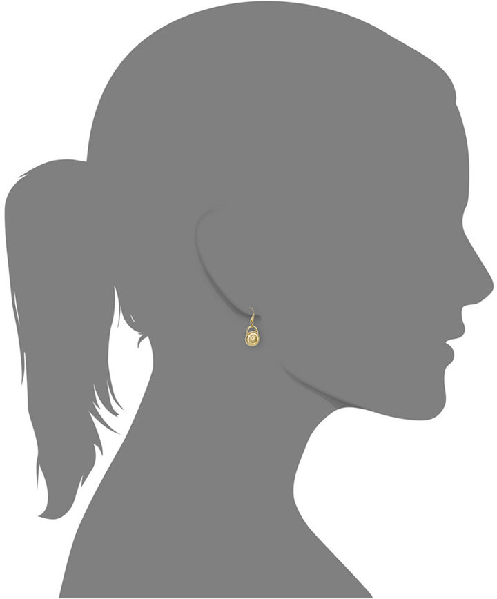 Michael Kors Gold-Tone Logo Lock Earrings
