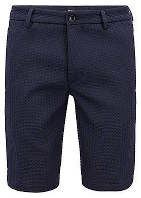 HUGO BOSS Slim-fit shorts with three-dimensional structure