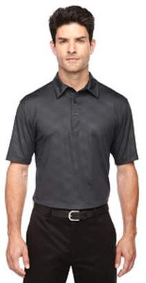Ash City - North End Sport Red Men's Maze Performance Stretch Embossed Print Polo - BLKSILK 866 - 3XL 88659