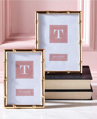 Twos Company Gold Gallery Set of 2 Rose Gold Photo Frames Includes 2 Sizes