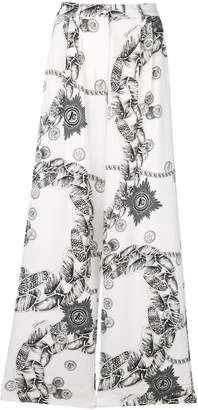 Just Cavalli Chain Reaction flared trousers
