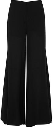 McQ Alexander McQueen - Chiffon Wide-leg Pants - Black $495 thestylecure.com