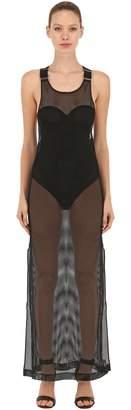 Bordelle Grid Mesh Maxi Dress