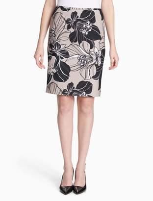 Calvin Klein floral scuba skirt