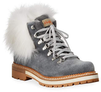 Montelliana 1965 Clara Boots with Fox Fur