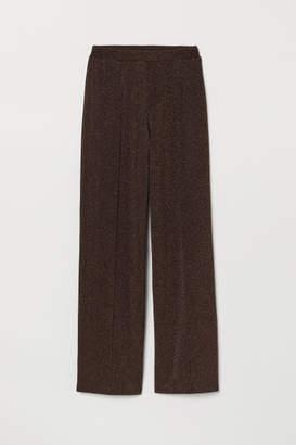 H&M Glittery Pants - Brown