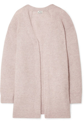 Acne Studios Raya Mélange Knitted Cardigan - Pastel pink