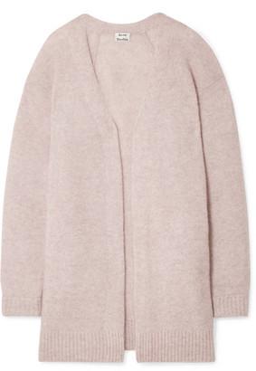 Acne Studios - Raya Mélange Knitted Cardigan - Pastel pink