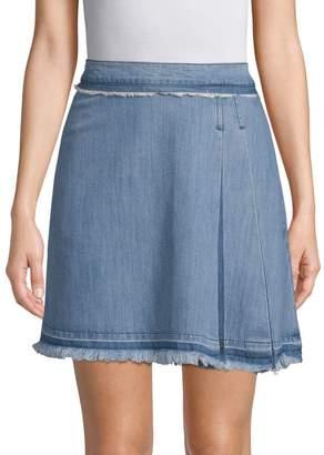 Ei8ht Dreams Pleated Denim Mini Skirt