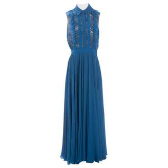 Elie Saab Blue Silk Dresses