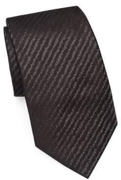 Emporio Armani Static Stripe Silk Tie
