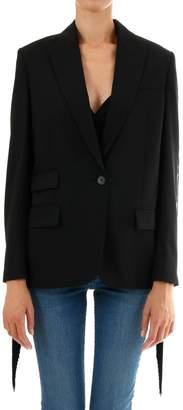 Stella McCartney Black Blazer With Fringe