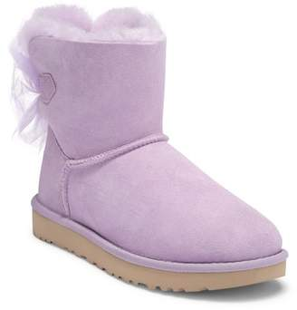 UGG Mini Bailey Bow Genuine Shearling Boot