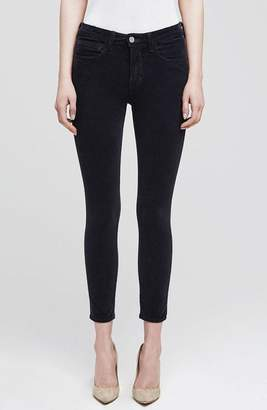 L'Agence The Margot Corduroy High Rise Skinny In Charcoal