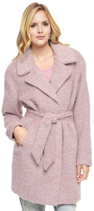 Long Brushed Wool Coat $498 thestylecure.com