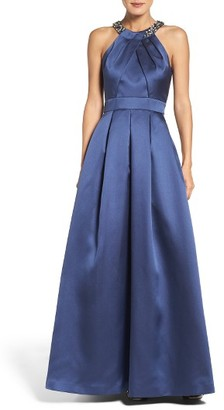 Women's Eliza J Beaded Pleated Gown $248 thestylecure.com