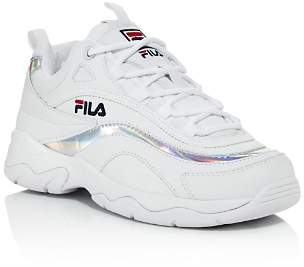 Fila Women's Ray Leather Lace Up Sneakers