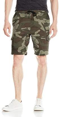 Brooklyn Athletics Men's Cargo Shorts Slim Fit Multi Pocket Stretch Twill Short