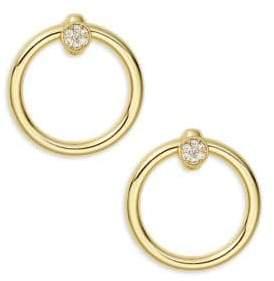 Kenneth Jay Lane Goldtone Wide Hoop Earrings