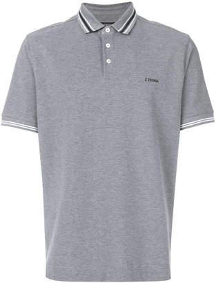 Z Zegna striped trim polo shirt