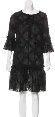 Chanel Long Sleeve Lace Dress