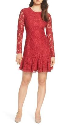 FOREST LILY Lace Fit & Flare Dress