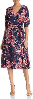 Bobeau B Collection by Emory Floral Faux-Wrap Dress