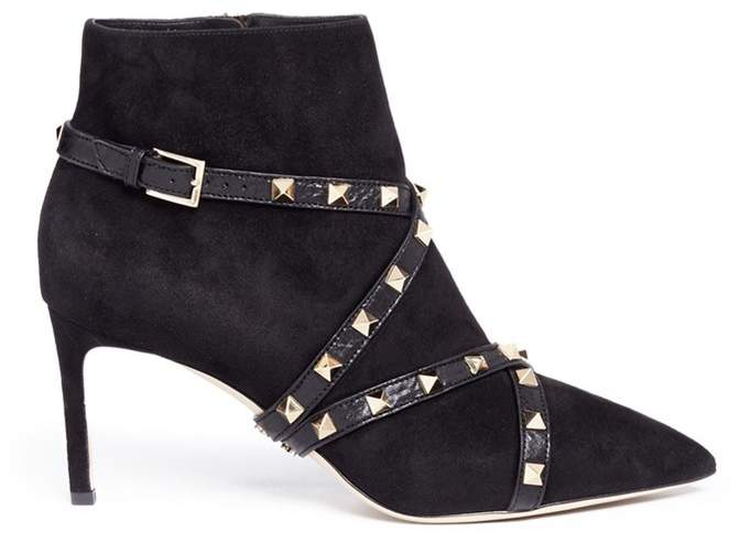 Valentino 'Studwrap' suede ankle boots