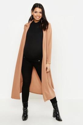 boohoo Maternity Longline Duster Jacket
