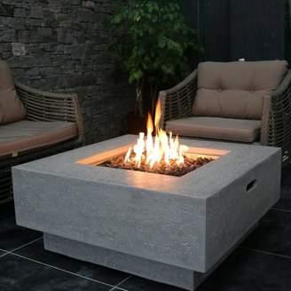 Elementi Manhattan Concrete Gas Fire Pit Table Fuel Type: Natural Gas