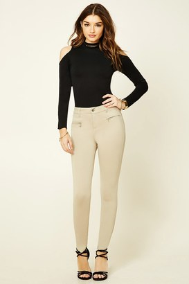 FOREVER 21+ Zippered Skinny Pants $19.90 thestylecure.com