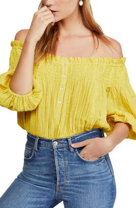 962b67389ccc8f Free People Dancing till Dawn Off the Shoulder Crop Top