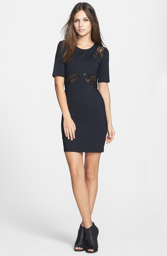 Leith Lace Inset Body-Con Dress