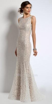 Camille La Vie Rhinestone Lace Evening Dress $500 thestylecure.com
