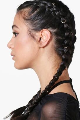 boohoo Simple Hair Rings 10 Pack