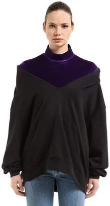 Oversized Sweatshirt Hoodie & Velvet Top