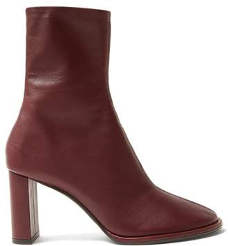 The Row Tea Time Leather Boots - Womens - Burgundy