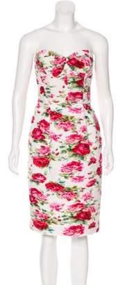 Antonio Marras Printed Strapless Dress White Printed Strapless Dress
