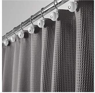 """+Hotel by K-bros&Co mDesign Hotel Quality Polyester/Cotton Blend Fabric Shower Curtain with Waffle Weave and Rustproof Metal Grommets for Bathroom Showers and Bathtubs - 72"""" x 72"""" - Gray"""